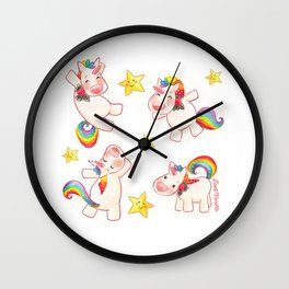 Licornes en fête Wall Clock