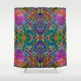 Buddha 5 geometry III Shower Curtain