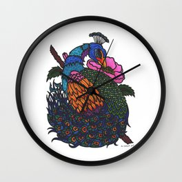 Japanese Peacock Wall Clock