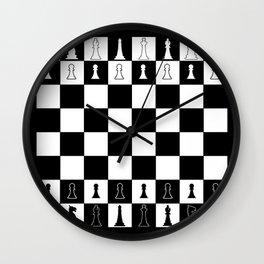 Chess Board Layout Wall Clock