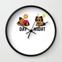 Gamer Level Sleeping Tired Addict funny gift Wall Clock