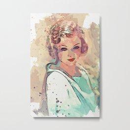 Myrna Loy - 1932 watercolor by Ahmet Asar Metal Print