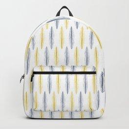 Illuminating Grey Feather Pattern [ON WHITE] Backpack