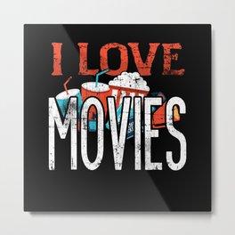 I love Movies Metal Print