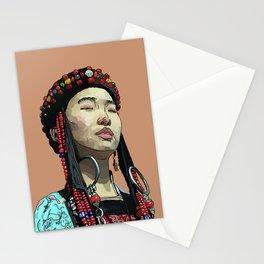 Mongolia- Buryat Girl Stationery Cards