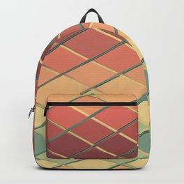Grid symmetry digital art Backpack