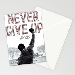 Never Give Up, Boxing & Life Motivation Stationery Cards