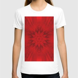 Motion through the red kaleidoscopes T-shirt
