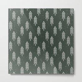 Pine Trees . Olive Metal Print