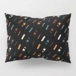 Vintage Vaccines - Small on Black Pillow Sham