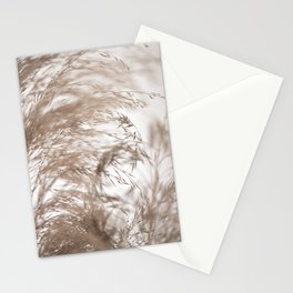 Pampas Grass Natural Motion Blur Stationery Cards