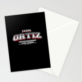 Team ORTIZ Family Surname Last Name Member Stationery Cards