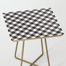 Gingham - Black Side Table