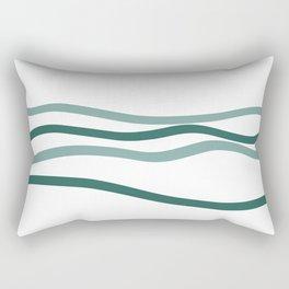 sea is blue Rectangular Pillow