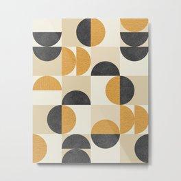 Mid century modern halfmoon pattern Metal Print