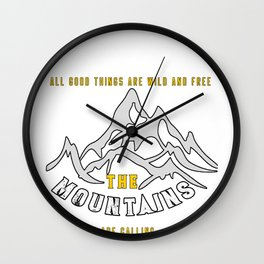 Rockclimbing Mountaineer Climber Climbing Gift Wall Clock