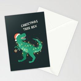 Tyrannosaurus Christmas Tree Rex Card Stationery Cards