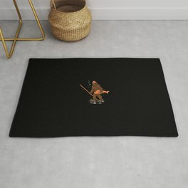 Fishing & Yeti Design: Bigfoot Carrying Fish Rug