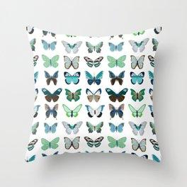 Green and Blue Butterflies Deko-Kissen
