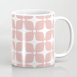 Mid Century Modern Star Pattern Dusty Rose 2 Coffee Mug