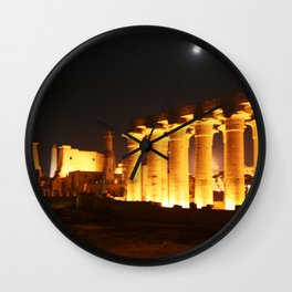 The night and the moon at Temple of Luxor, no. 29 Wall Clock
