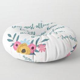Pride and Prejudice Quote - Mr. Darcy Love Quote Floor Pillow