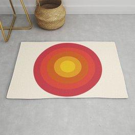 Right On - retro throwback 70s 1970s bullseye beach 70's vibes minimal art by Seventy Eight Rug