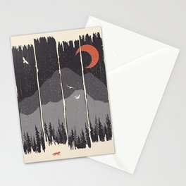 Winter Mountain Weather... Stationery Cards