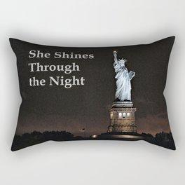 She Shines Through the Night Rectangular Pillow