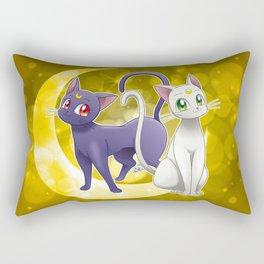 Luna & Artemis (Sailor Moon Crystal edit.) Rectangular Pillow