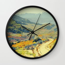 Warm breeze landscape Wall Clock