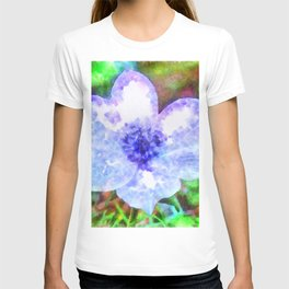 Blue Anemone Watercolor T-shirt