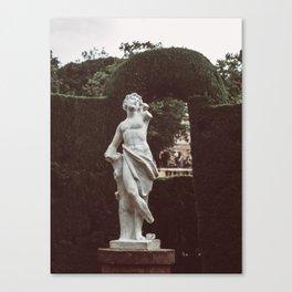 Elegant Renaissance White Marble Statue Photography Canvas Print