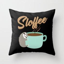 Sloffee | Coffee Sloth Throw Pillow