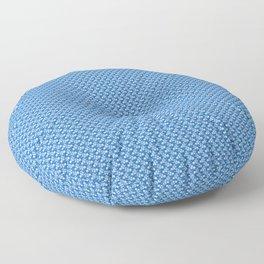 Floral white over blue J.pradillo desing Floor Pillow