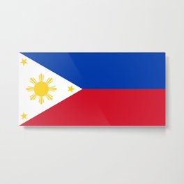 Flag of Philippines -Pilipinas,Filipinas,filipino,pinoy,pinay,Manila,Quezon Metal Print