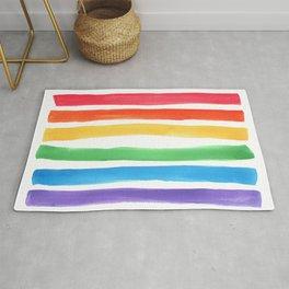 Watercolor Rainbow Rug