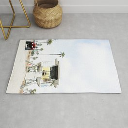 San Diego Beach Lifeguard Hut Rug