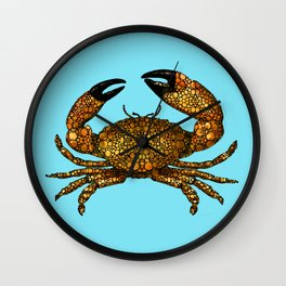 Stone Rock'd Stone Crab By Sharon Cummings Wall Clock