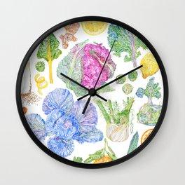 Winter Harvest Wall Clock