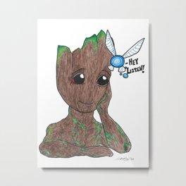 Tree and fairy Metal Print