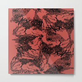 Netting Tango Metal Print