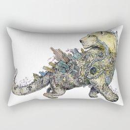 Independent leopard as a symbol of Kazakhstan Rectangular Pillow