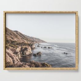 Big Sur | Monterey California Surfers Paradise Ocean Beach Landscape Wanderlust Photograph Serving Tray