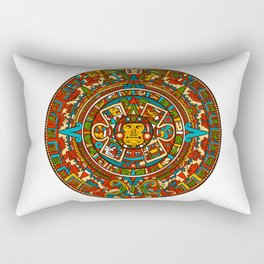 Aztec Mythology Calendar Rectangular Pillow