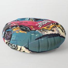 Hot Wheels Candy Striper 55 Gasser Poster Floor Pillow