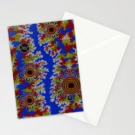 Authentic Aboriginal Art - Waterholes Corela Stationery Cards