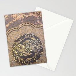 Gold mosaic art deco art nouveau Stationery Cards