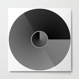 GRADIENT CONCENTRIC CIRCLES Metal Print