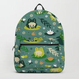 Cute little frogs pond pattern Backpack
